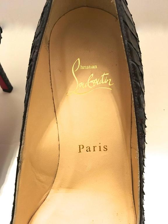 Christian Louboutin Python Heels - Size 37.5 9