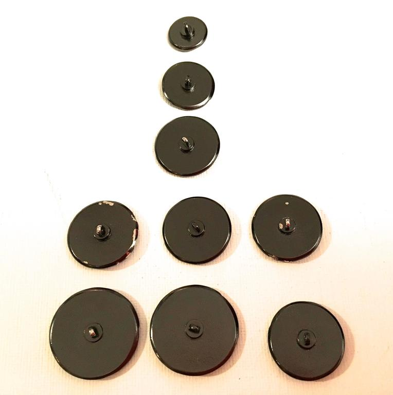 Set of 9 Chanel Buttons 2