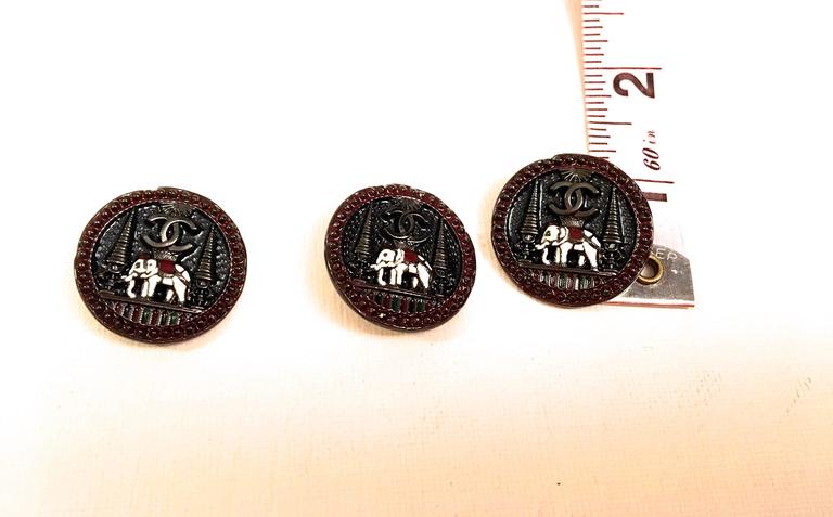 Set of 9 Chanel Buttons 3