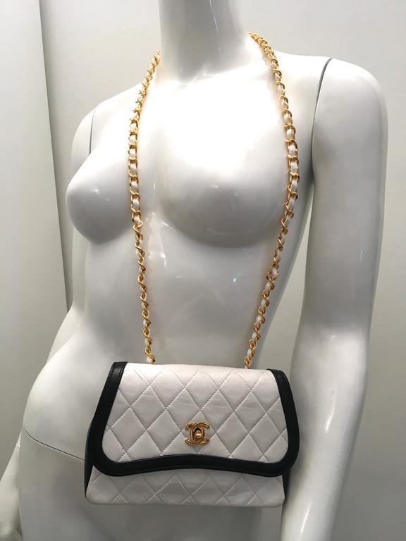 Chanel Crossbody Bag Black And White At 1stdibs