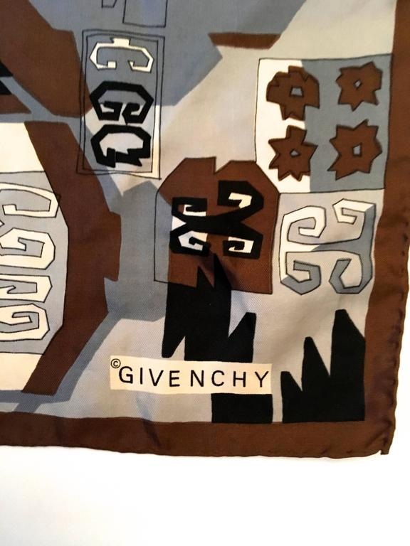 Rare Vintage Givenchy Scarf - 100% Silk For Sale 1