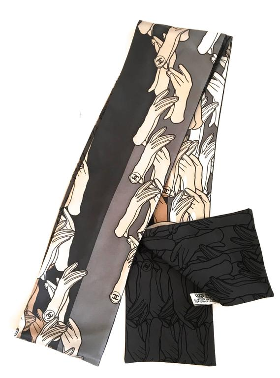 chanel scarf 100 silk for sale at 1stdibs