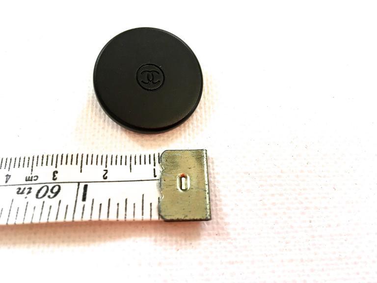 Chanel Buttons - Set of 5 - Black Metal - CC Logo 5
