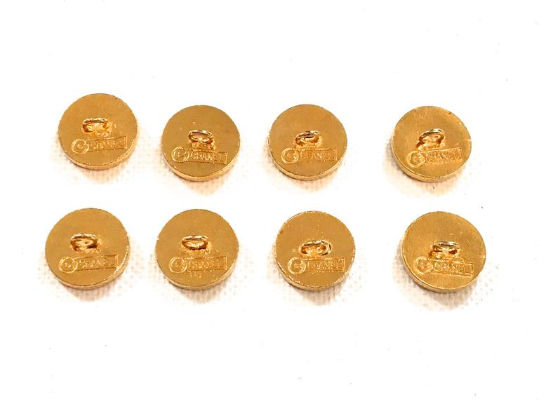 Chanel Buttons - Rare Matching Gold Tone Buttons - 1980's 2