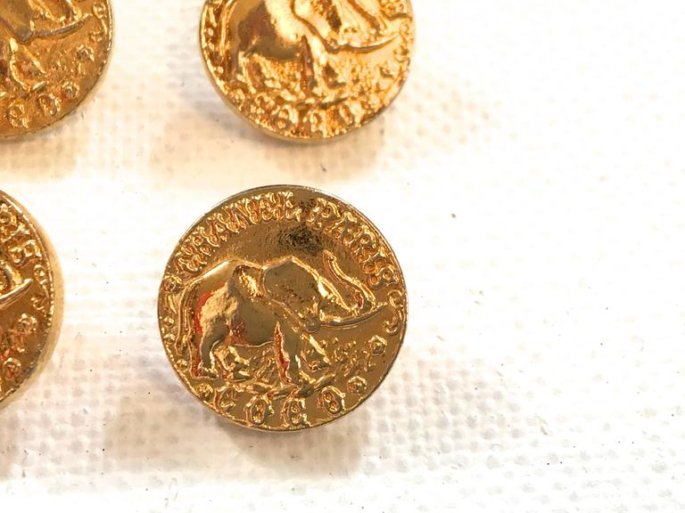 Chanel Buttons - Rare Matching Gold Tone Buttons - 1980's 6
