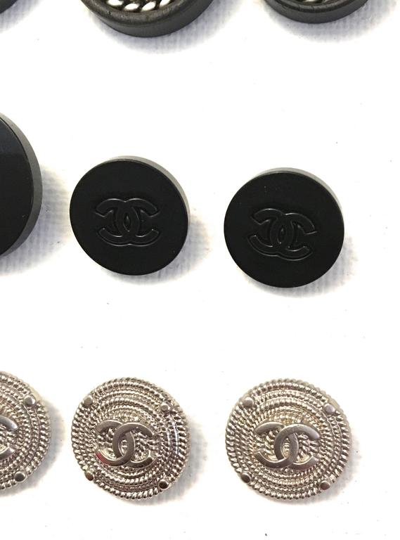 Set of Twelve Chanel Buttons  2