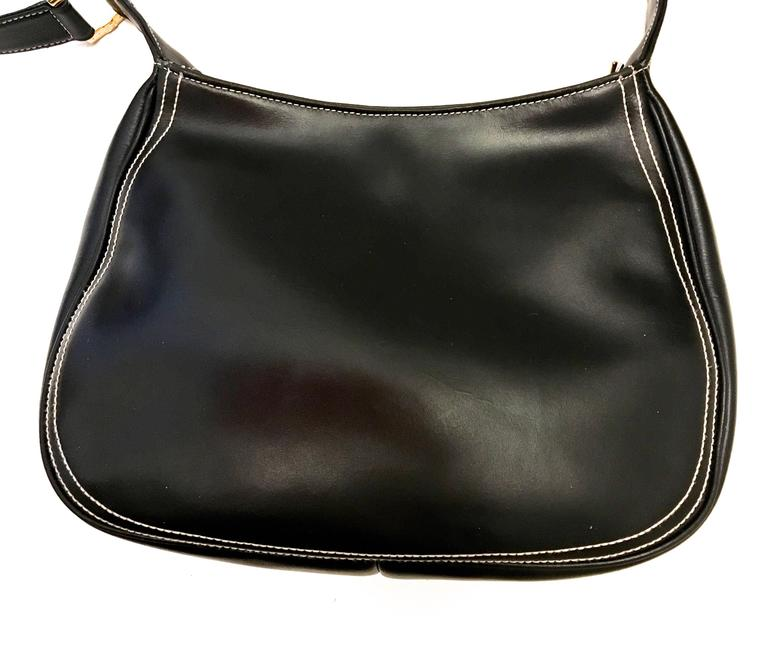 Roberta di Camerino Black Stitched Bag - 1970's  For Sale 2