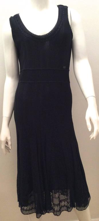 Chanel Blue Knit Sleeveless Dress - Timeless 2