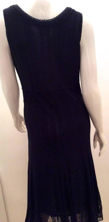 Chanel Blue Knit Sleeveless Dress - Timeless 3