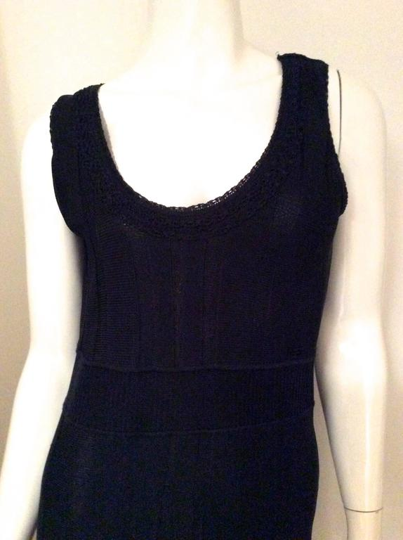 Chanel Blue Knit Sleeveless Dress - Timeless 5