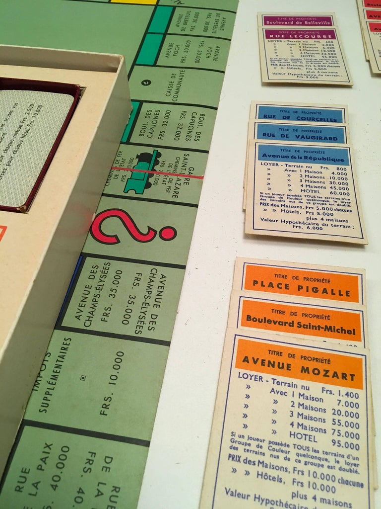 Vintage Monopoly Game 1957 French Edition Rare For Sale At 1stdibs