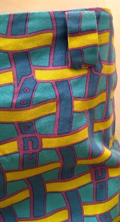 Vintage Roberta di Camerino Pants - Ladies 1980's Cotton  In Excellent Condition For Sale In Boca Raton, FL