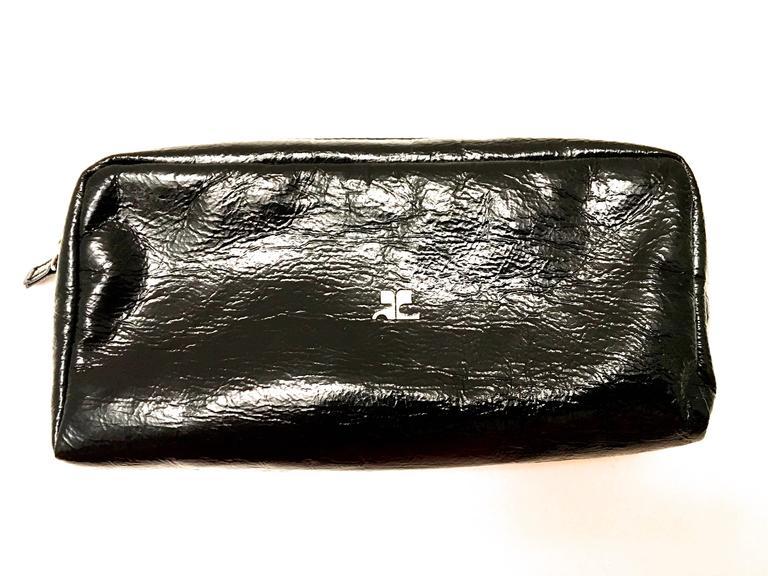 André Courrèges Courreges Bag - Black - Patent Leather - Makeup / Accessory - New rz4al