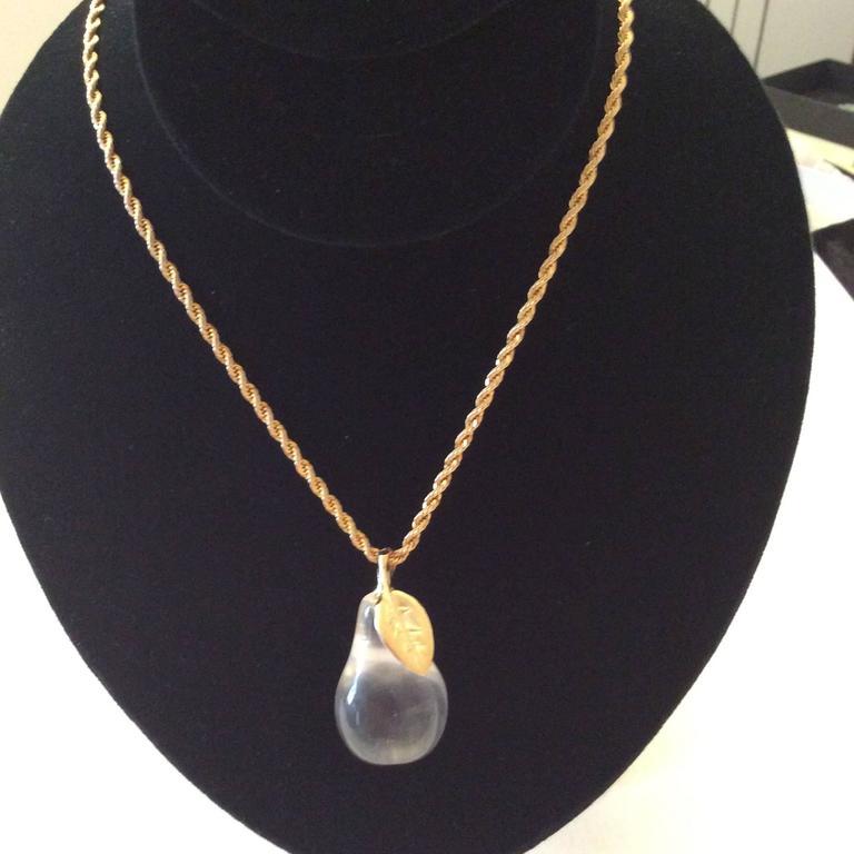 KJL Kenneth J. Lane Necklace - Lucite Pear For Sale 5