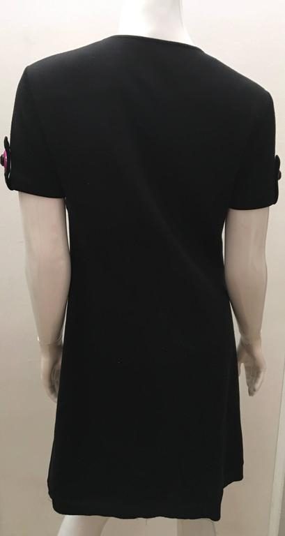 Emilio Pucci Dress with Black Rhinestones In Excellent Condition For Sale In Boca Raton, FL