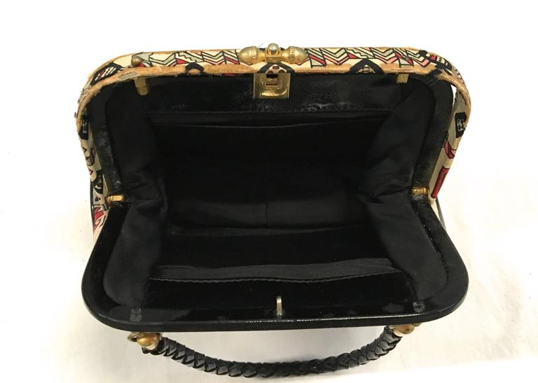White Rare Emilio Pucci Purse - 1960's For Sale