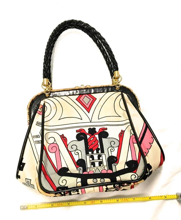 Rare Emilio Pucci Purse - 1960's In Good Condition For Sale In Boca Raton, FL