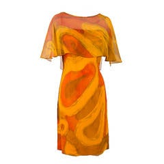Molly Parnis Boutique Gold and Orange Dress Size 11