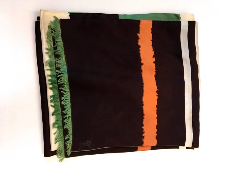 Vintage Scarf - 100% Silk - 1960's In Excellent Condition For Sale In Boca Raton, FL