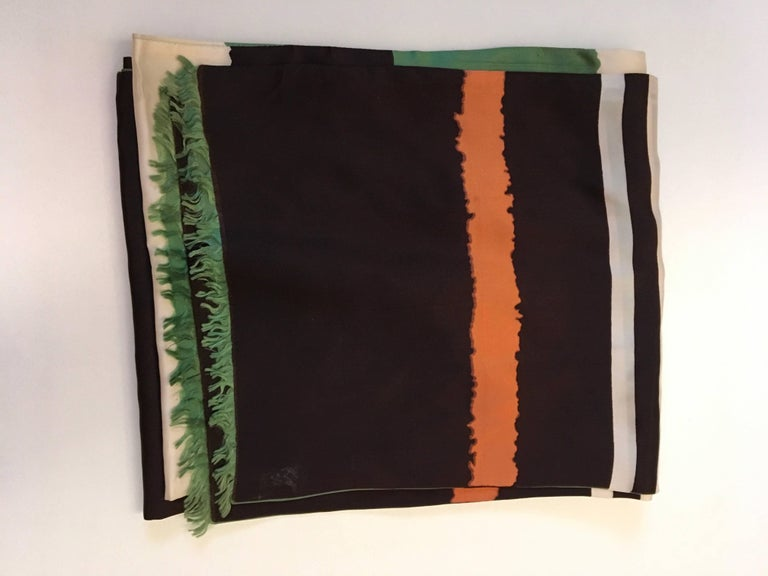 Women's or Men's Vintage Scarf - 100% Silk - 1960's For Sale