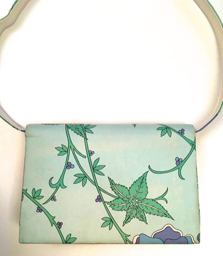 Green Emilio Pucci Purse - 1960's - Rare For Sale
