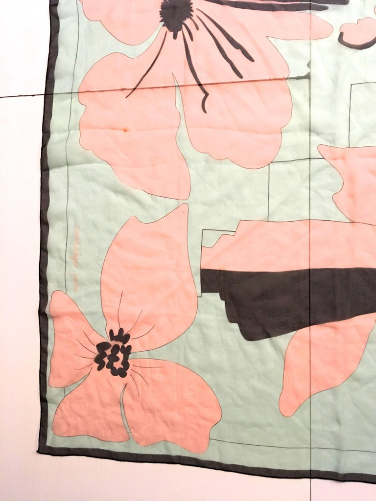 Rare Courreges Scarf - 100% Silk  For Sale 1