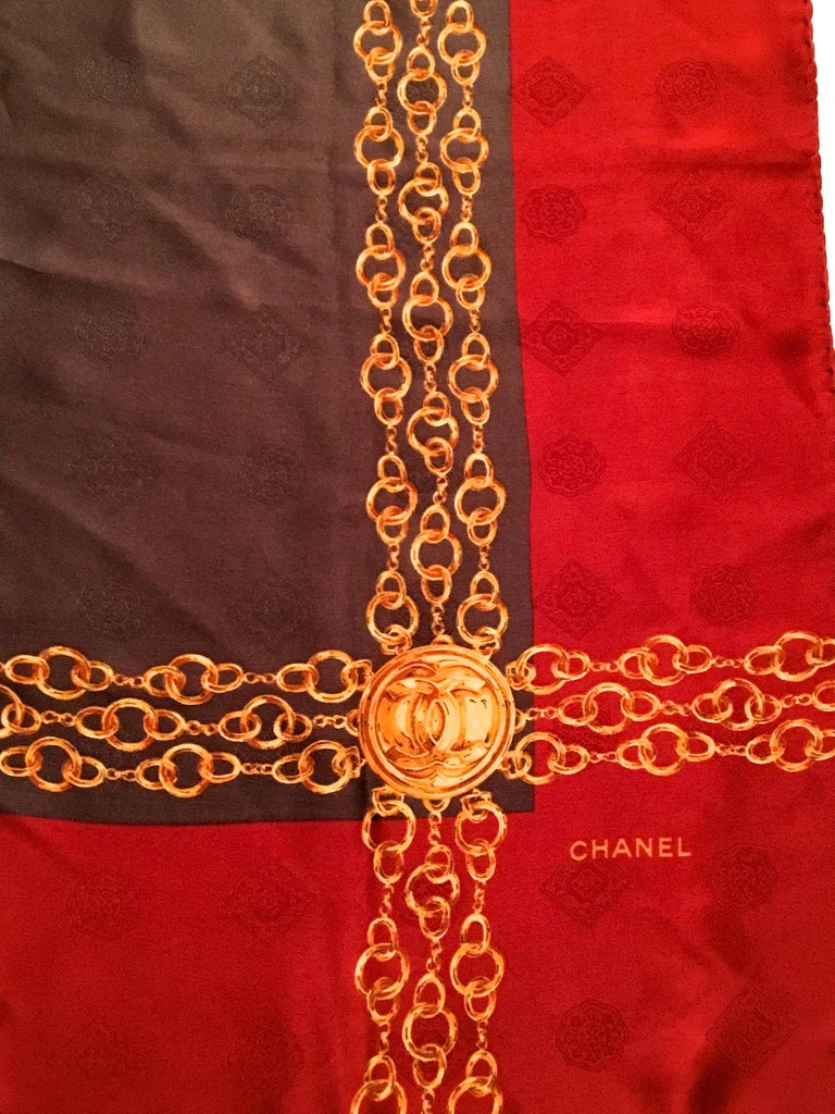 chanel scarf 100 silk 1980 s for sale at 1stdibs