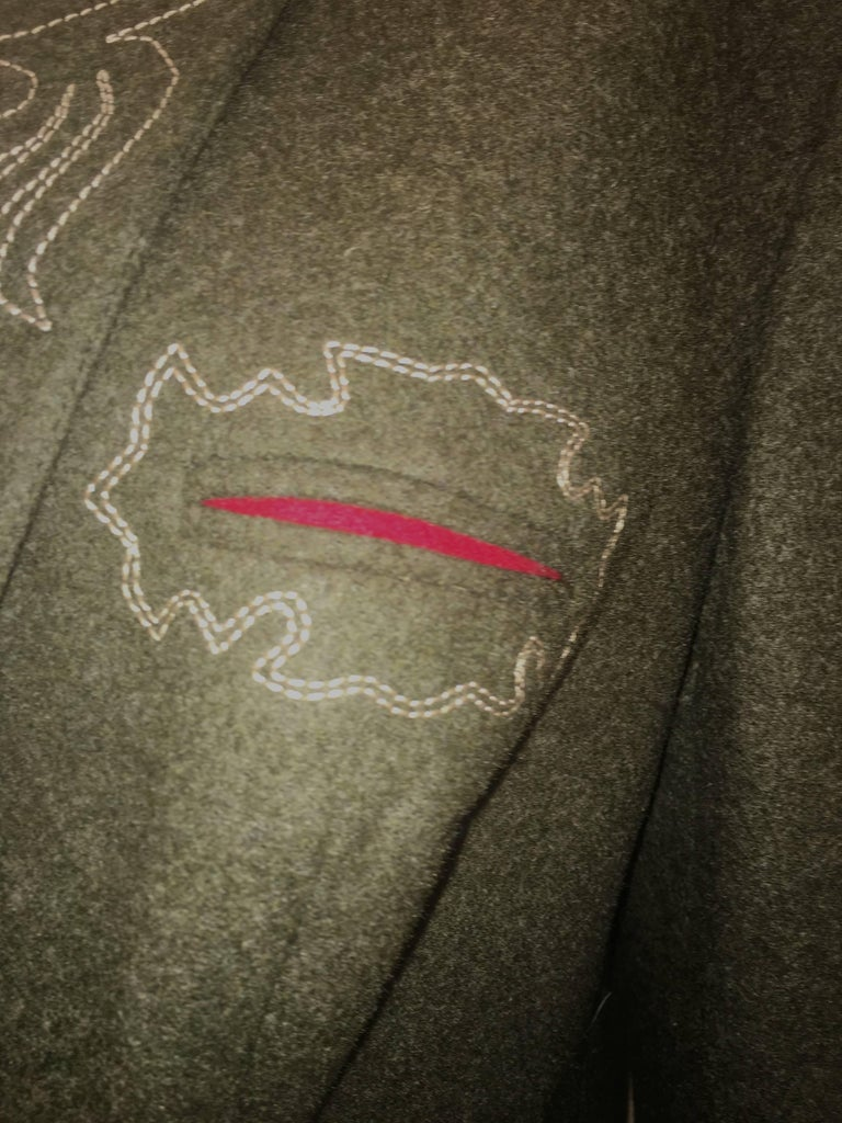Austrian Wool Loden Coat Women's  In Excellent Condition For Sale In Boca Raton, FL