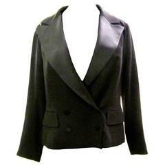 Louis Vuitton Black Women's Tuxedo Jacket - Size 40