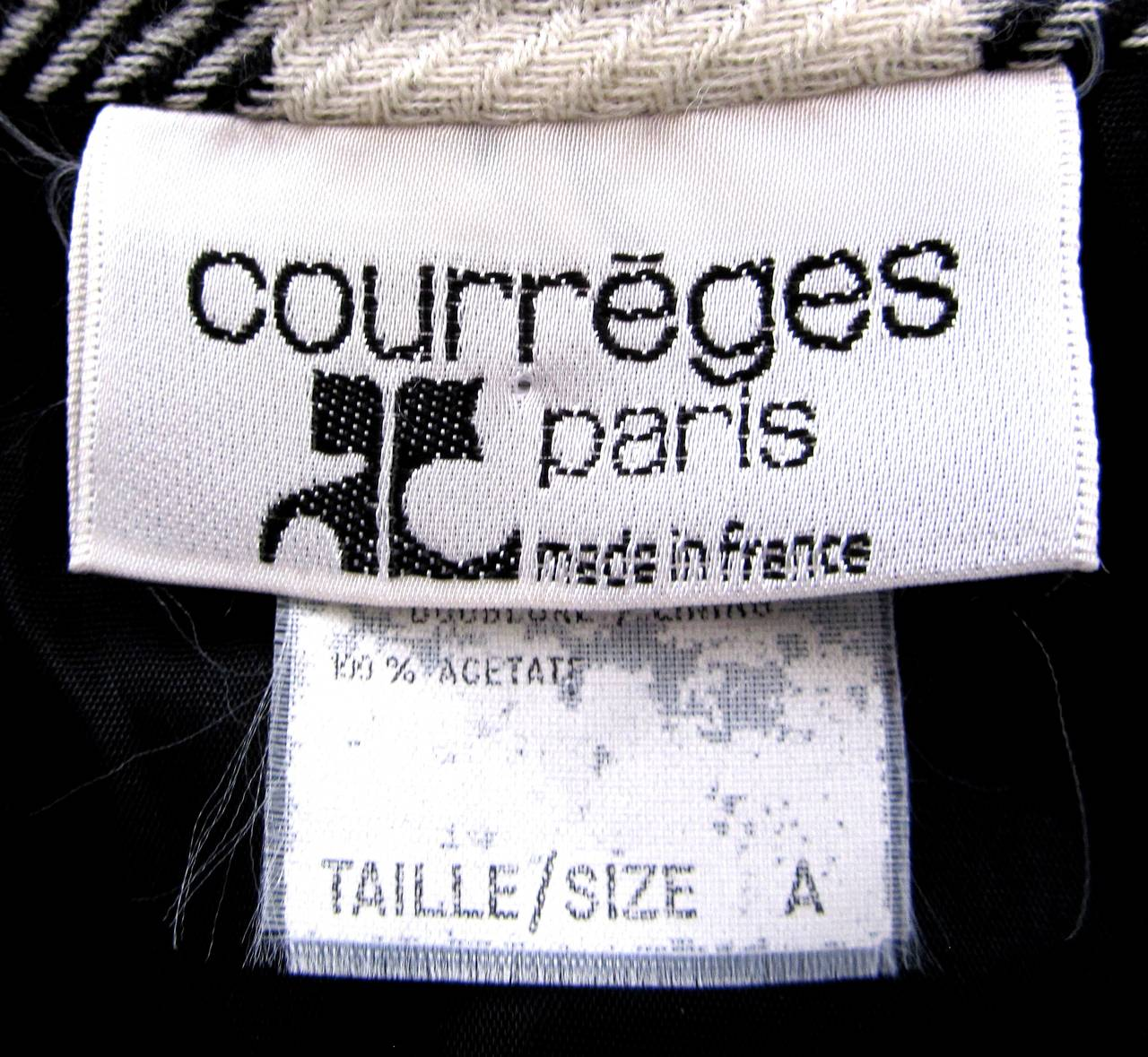 Courreges Black and White Wool Skirt - 1990's 6