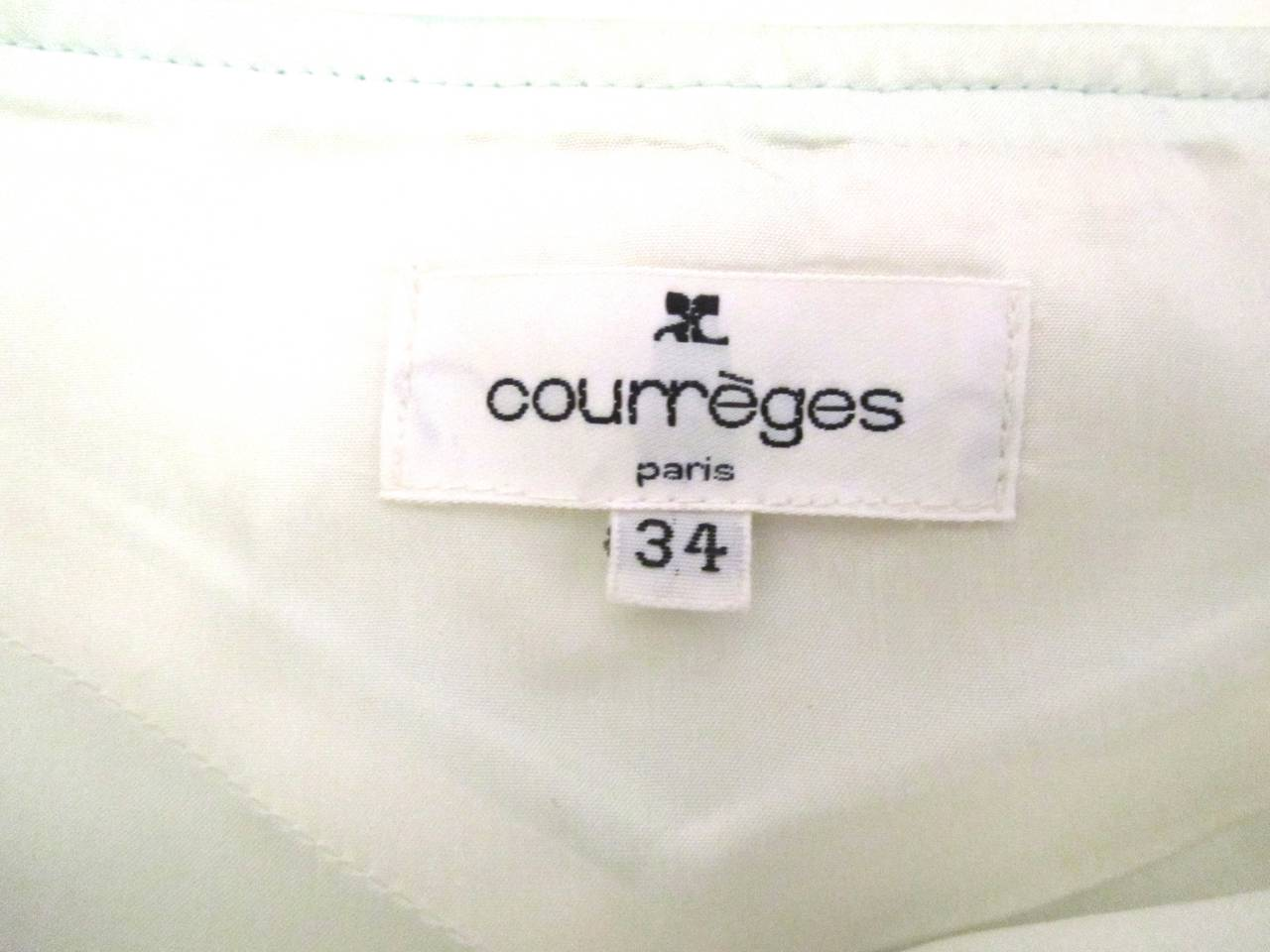 Gray Courreges Sea Foam Aqua Mini Skirt   For Sale