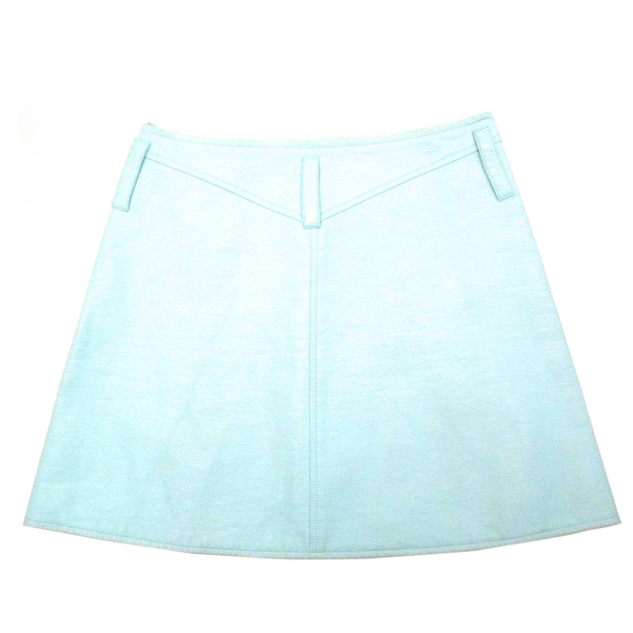 Courreges Sea Foam Aqua Mini Skirt