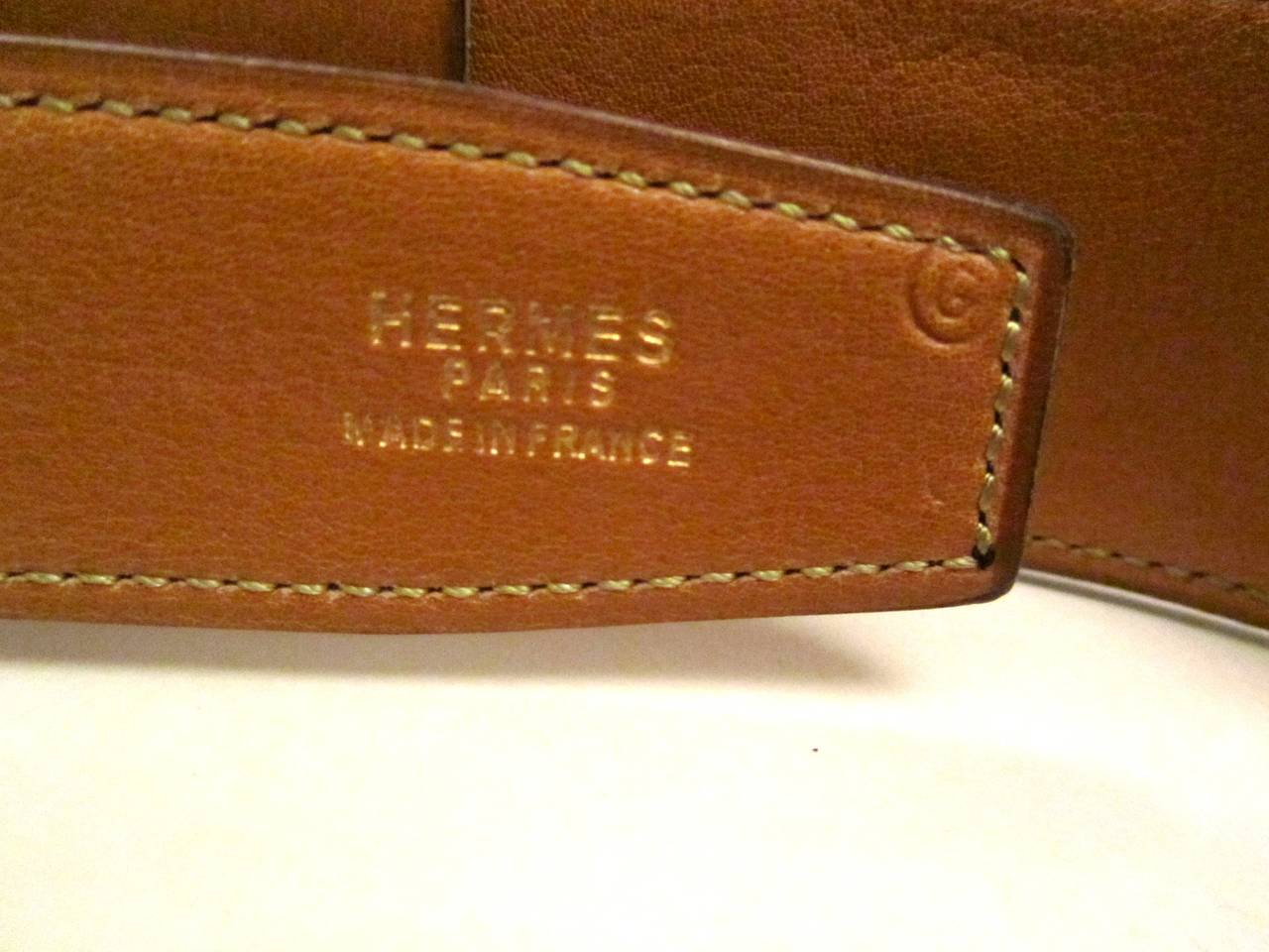 Hermes Kelly Belt - Adjustable 60 - 65 - Brown 4