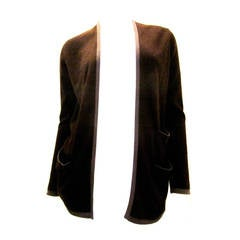 Hermes Brown Cashmere Cardigan Sweater - Bicolor