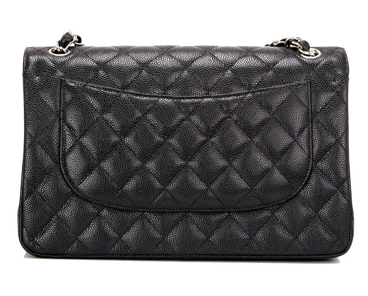 New Chanel Classic Double Flap Maxi Bag - Caviar 2