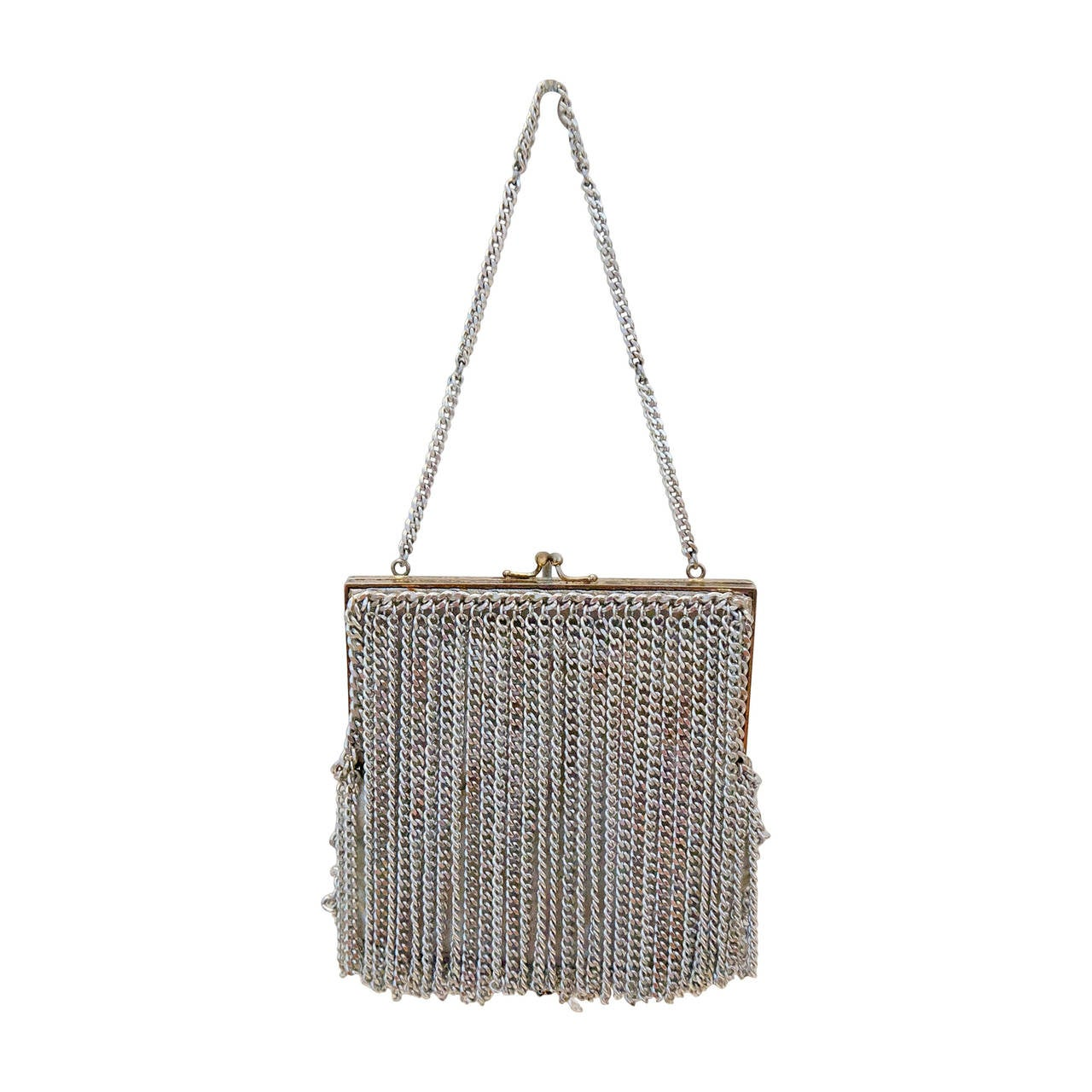 1950's Walborg Metal Chain Evening Bag
