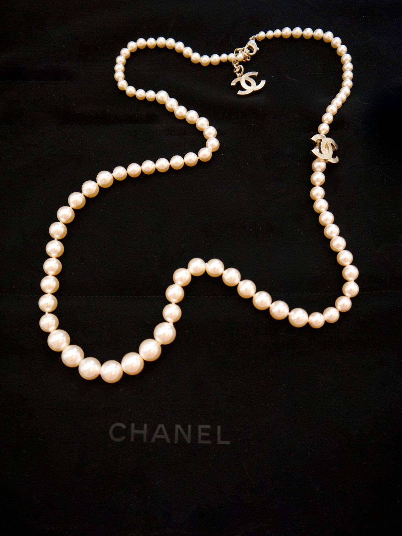 new chanel pearl necklace at 1stdibs