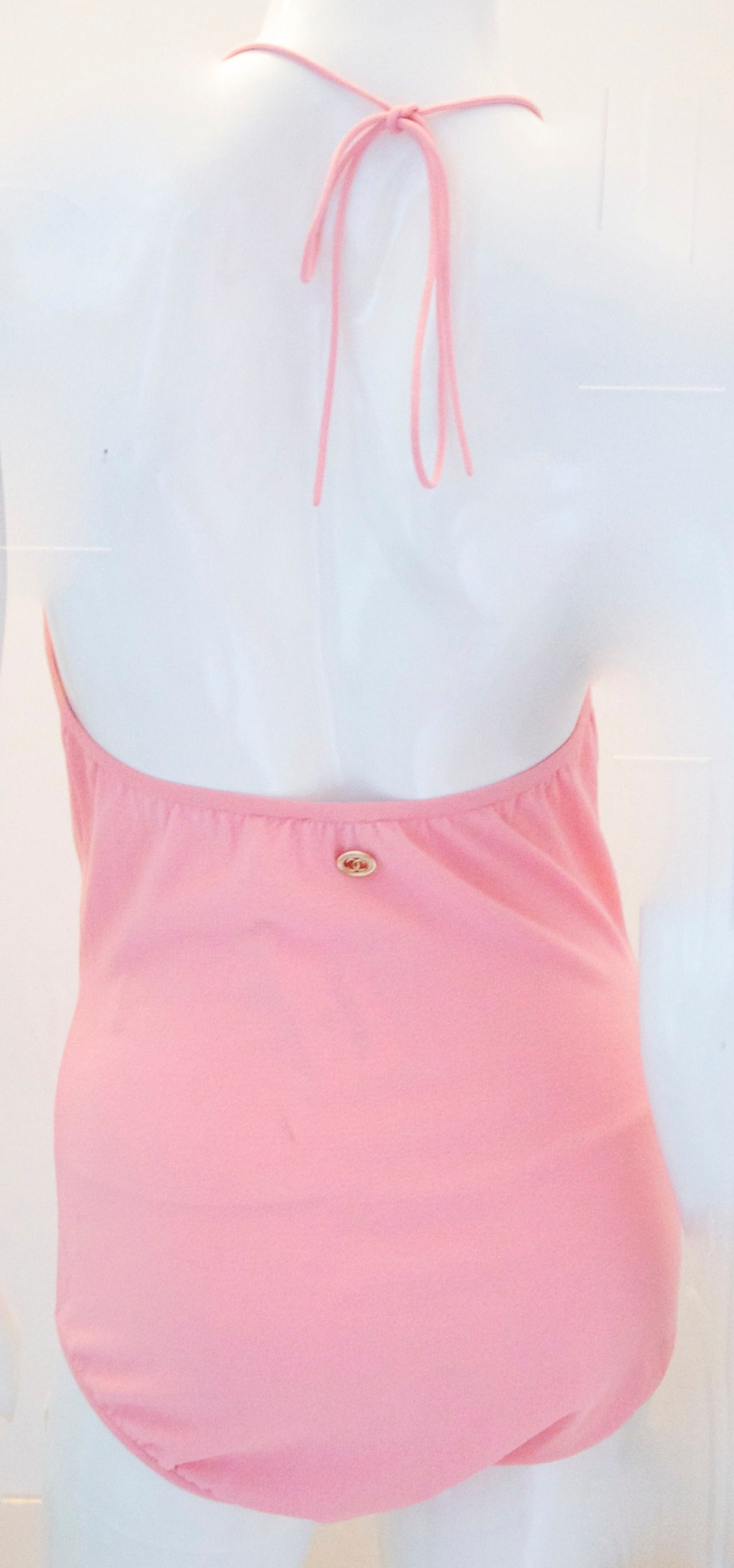 Chanel Pink Body Suit - Size 40 2
