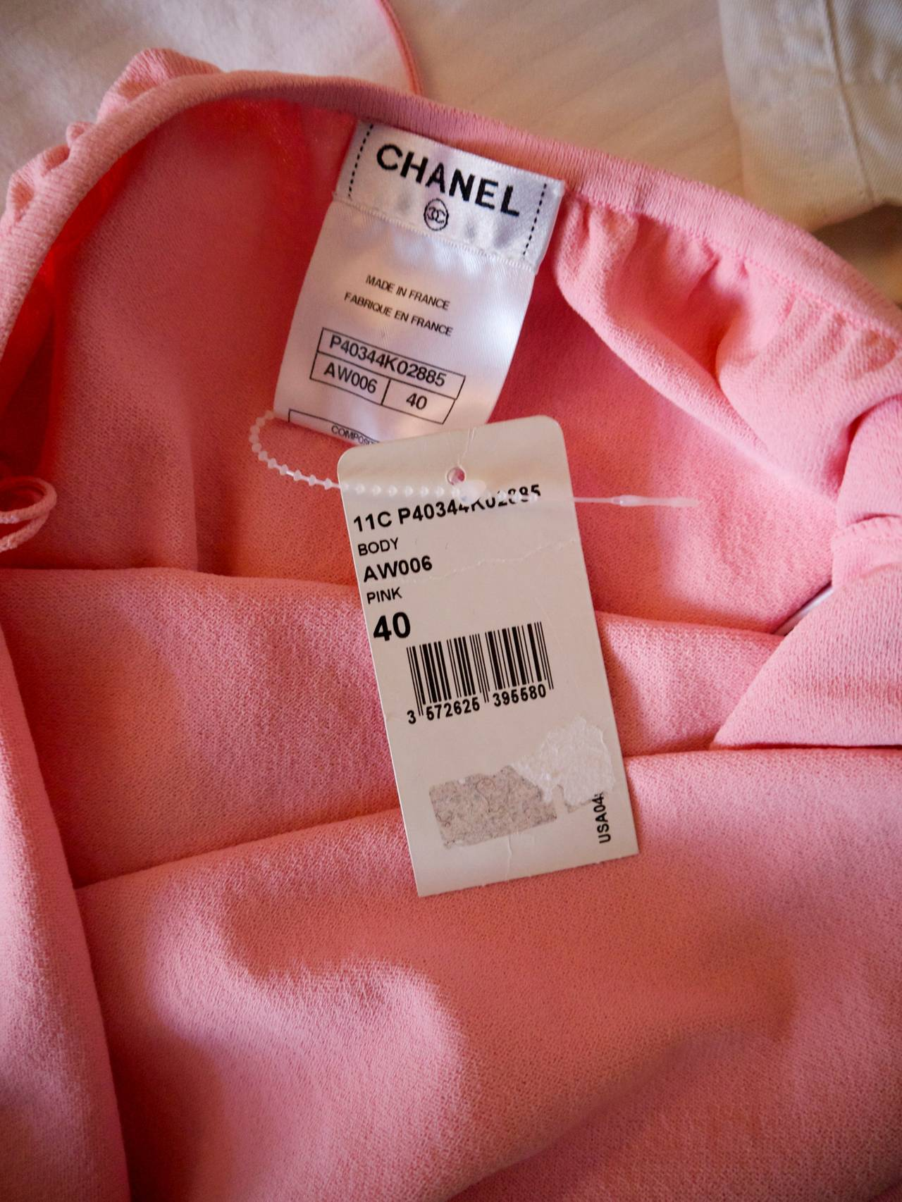 Chanel Pink Body Suit - Size 40 4