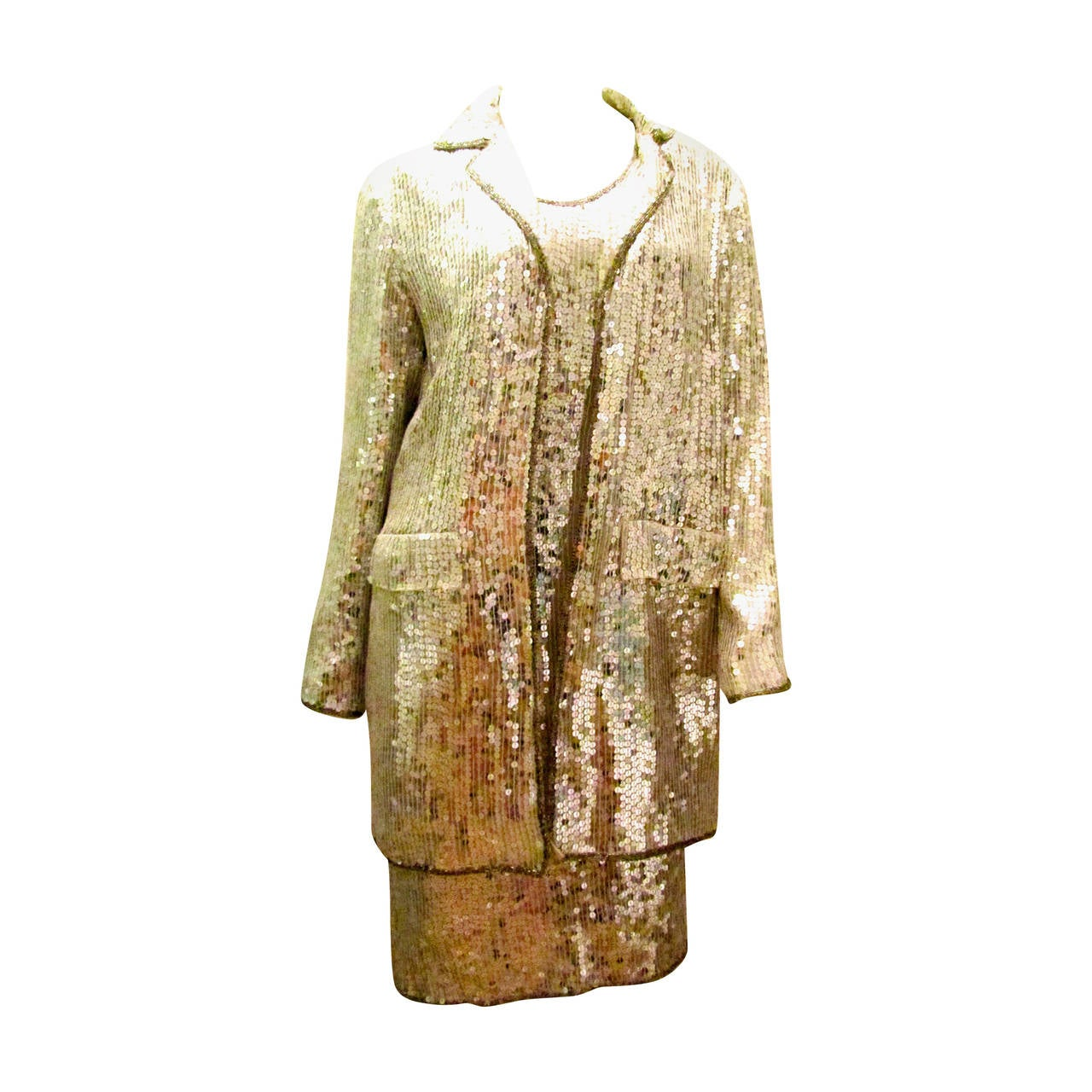 Dynamite 2 Piece Sequin Cocktail Dress with Jacket - Disco ...