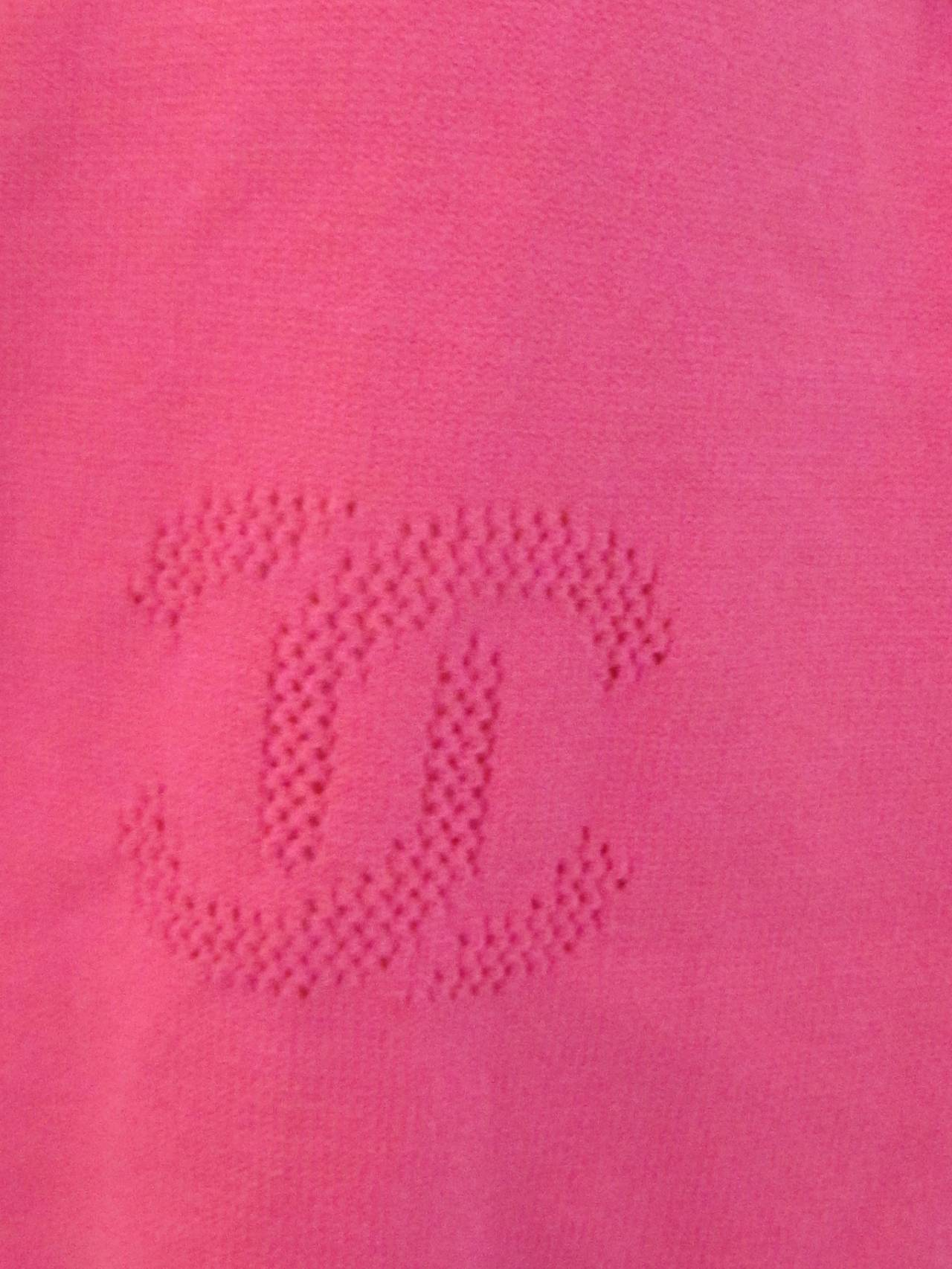 Women's Chanel Pink Casual Pants / Leggings For Sale