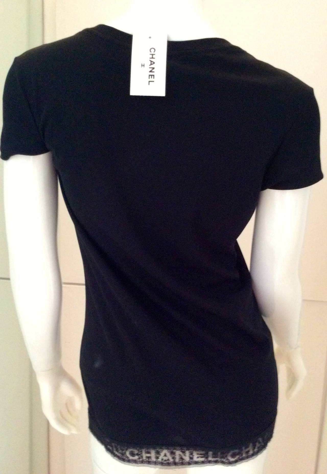 Chanel Black Tee Shirt - Size 36 2