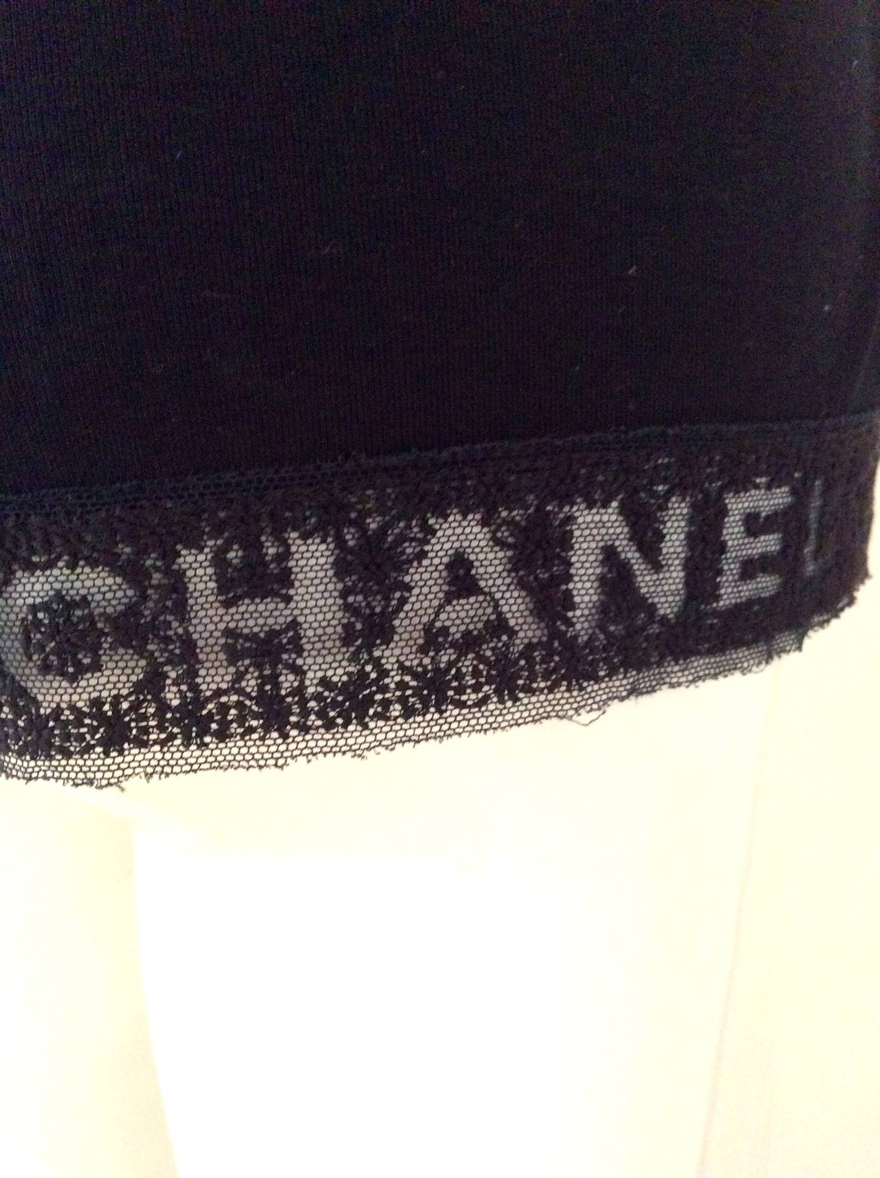Chanel Black Tee Shirt - Size 36 5