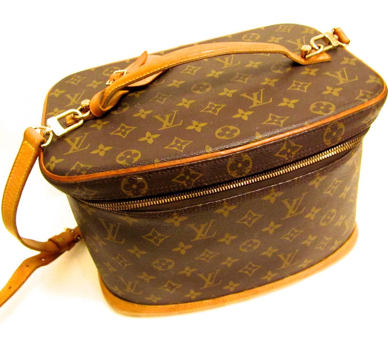 Louis Vuitton Train Case / Traveling Makeup Bag 6