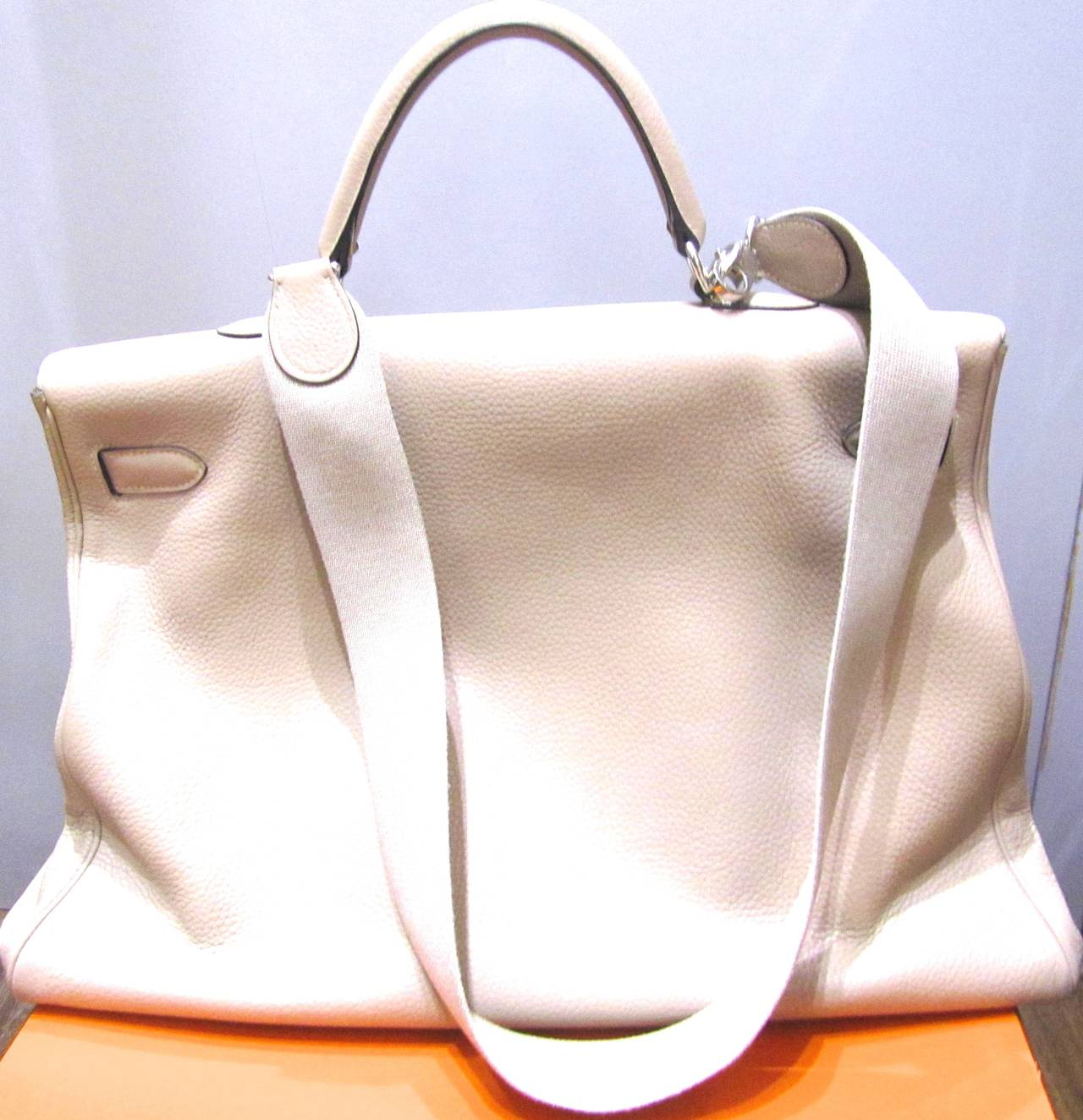 birken purses - Hermes Kelly Voyager Bag - 50 - Gris Tourterelle - 2009 M at 1stdibs