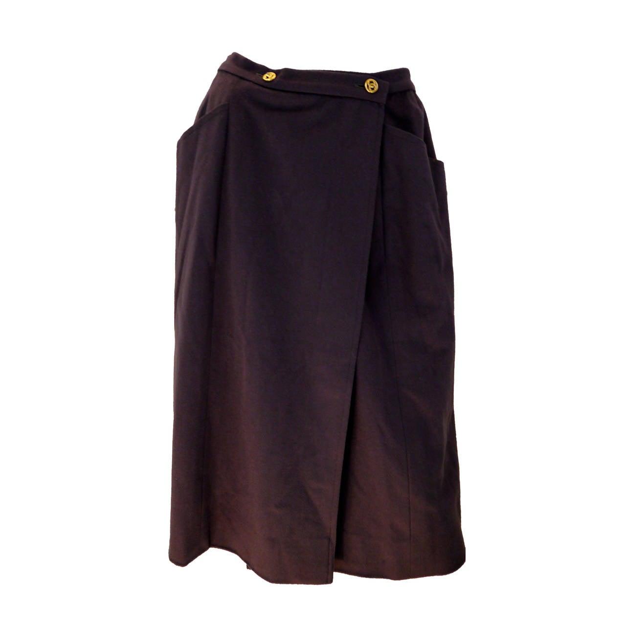 Chanel Skirt - Ash Brown - 1980's