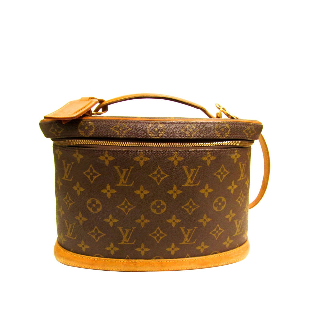 louis vuitton case A vintage louis vuitton monogram canvas hard-sided cosmetic case this bag in coated canvas signature print has vechetta leather trims, top handle, and adjustable.