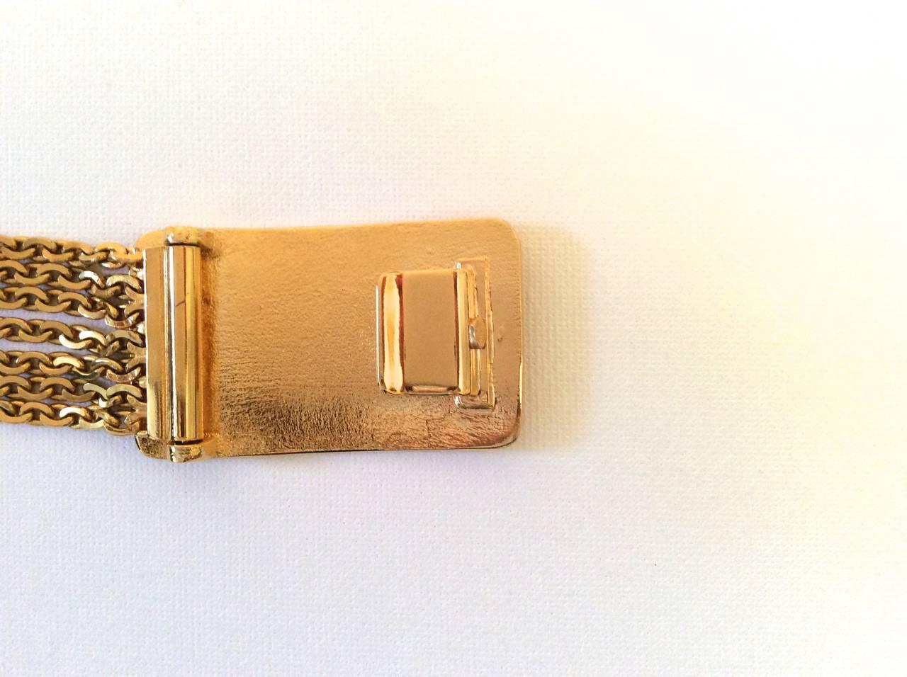 Women's Vintage Gold Tone Magnificent Chain Belt For Sale
