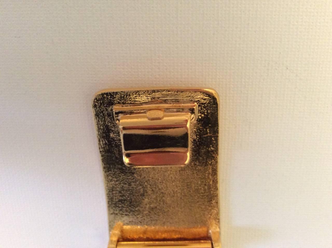 Brown Vintage Gold Tone Magnificent Chain Belt For Sale