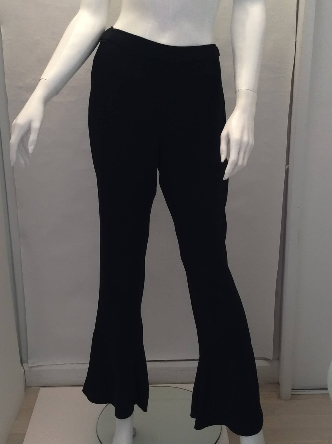 Chanel Black Silk Evening Pants 5